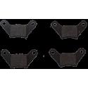 jeu de 4 Plaquettes de frein arrière 1er montage - Casalini