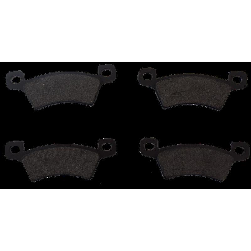 jeu de 4 Plaquettes de frein arrière - Microcar