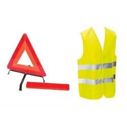 Kit de sécurité gilet triangle