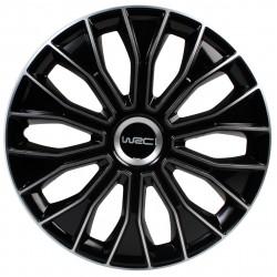 """WRC boite 4 enjoliveurs 13"""" noir/argent"""