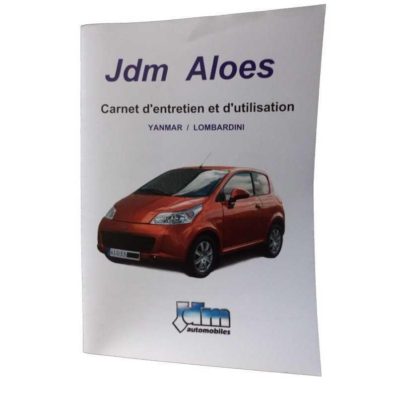 Carnet d'entretien et d'utilisation Aloes - JDM origine