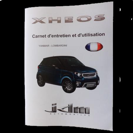 Carnet d'entretien et d'utilisation Xheos - JDM origine
