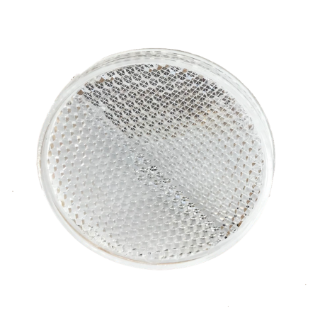 Catadioptre blanc Diamètre 60mm autocollant